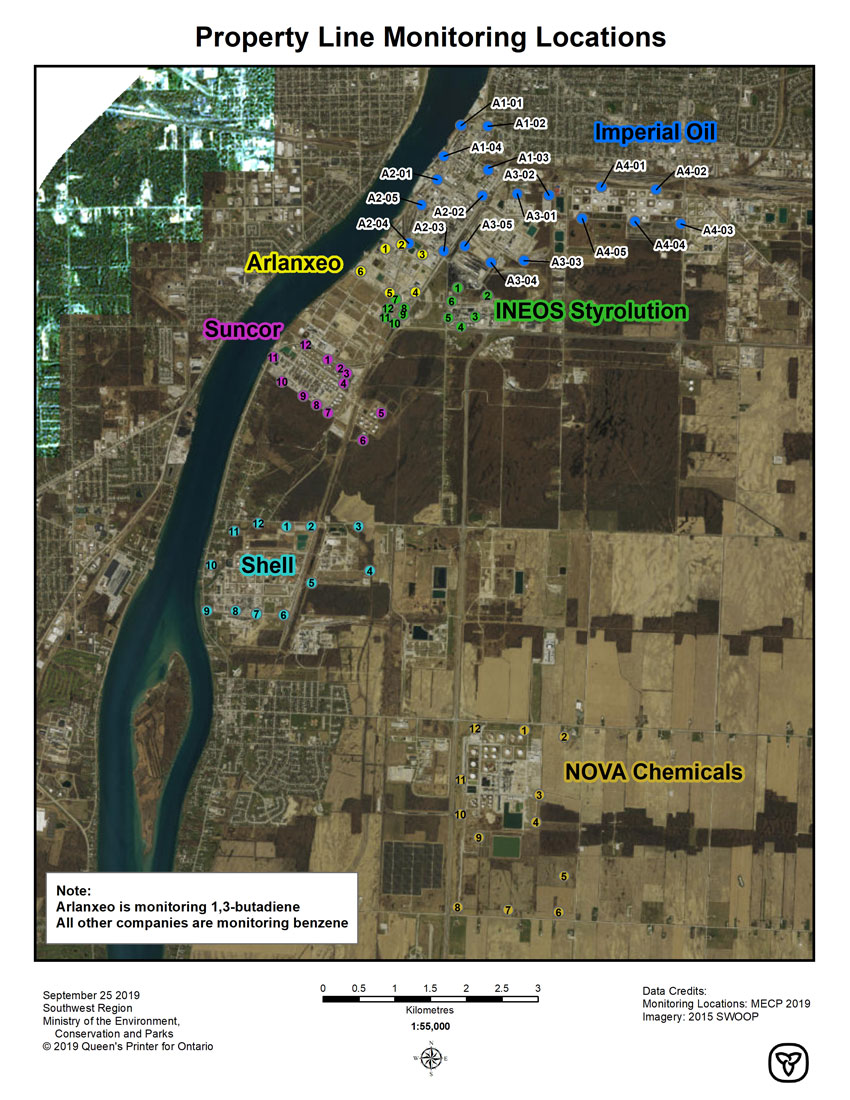 Property Line Monitoring Map
