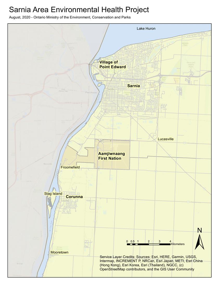 SAEHP Study Area map